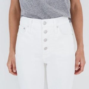 NWT Madewell Vintage Crop Jean in Tile White